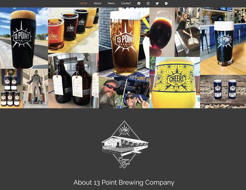 13 Point Brewing Website