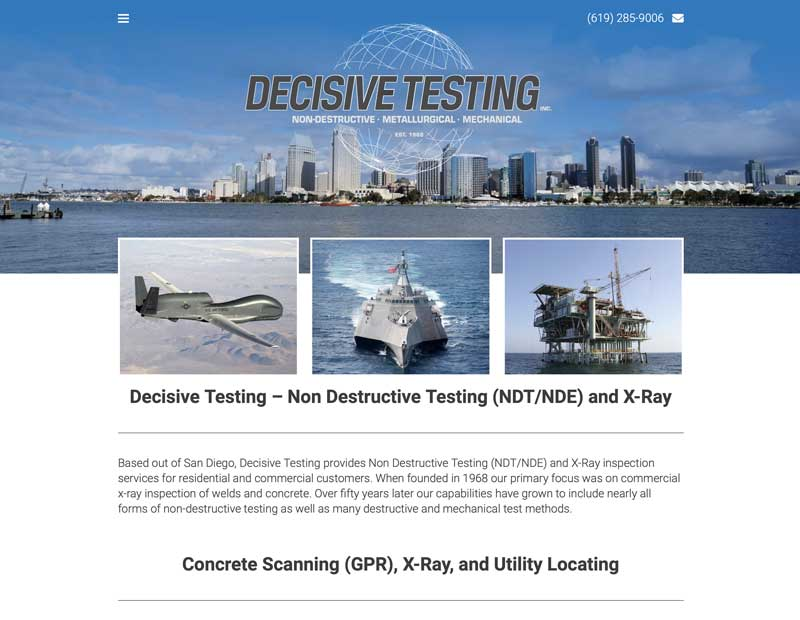 Decisive Testing Website