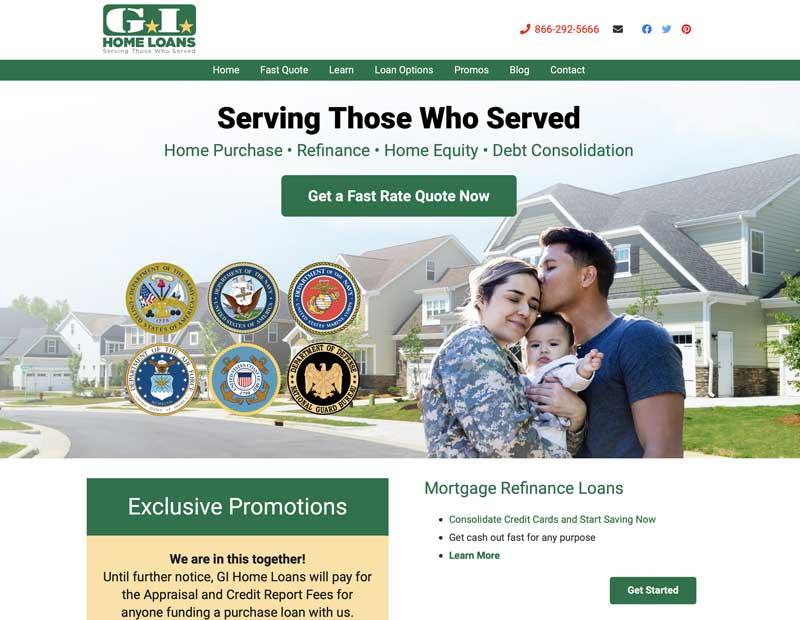 GI Home Loans Website