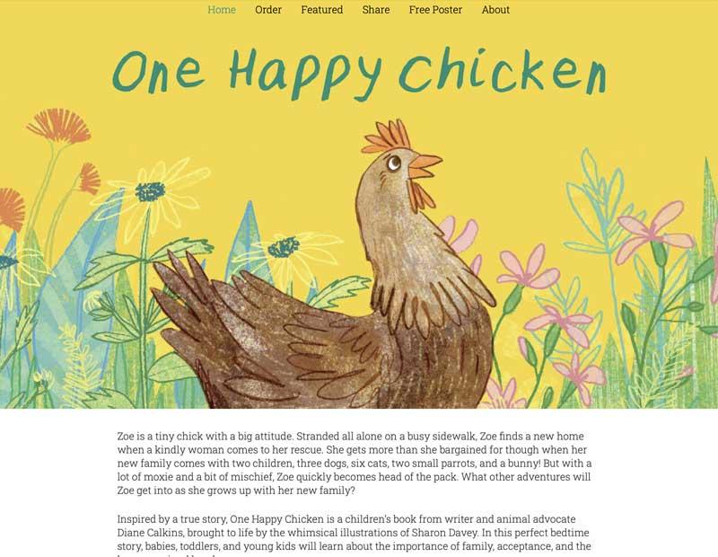 One Happy Chicken Website