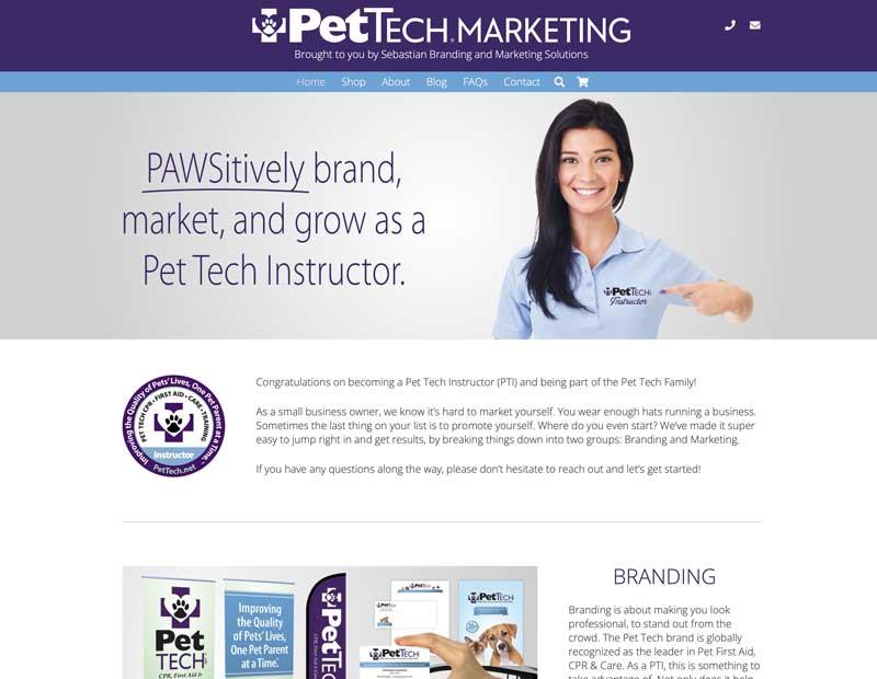 Pet Tech Marketing Website